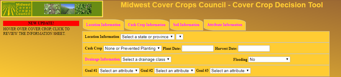 Cover Crop Tool Directs Decision Making